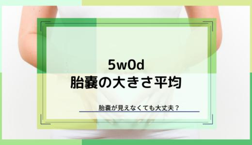【5w0d】胎嚢の大きさは?まだ胎嚢見えない人は?【実例まとめ】