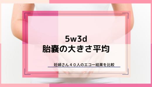 【5w3d】胎嚢の大きさは平均10.9mm【妊婦40人を比較】