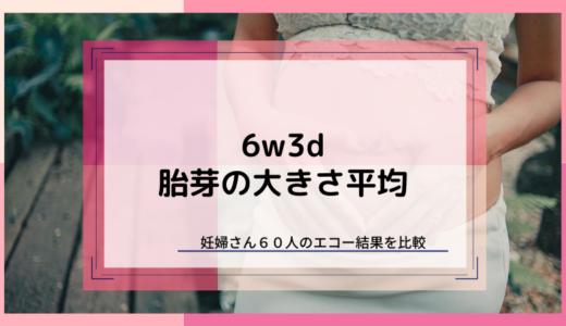 【6w3d】心拍確認できる?胎芽の大きさ平均まとめ【60名調査】