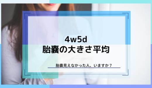 【4w5d】胎嚢の大きさは平均4mm。胎嚢見えない人も大丈夫です