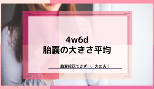 【4w6d】胎嚢の大きさは平均5.5mm。体外受精で胎嚢見えない人も出産してます